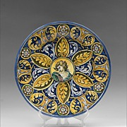 Renaissance Style 19th C. Majolica Italian Wall Charger