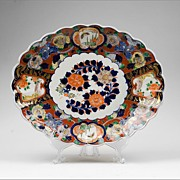 Meiji Period Imari Shell Shaped Oval Platter