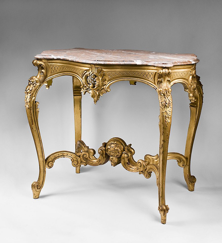 19th c hand carved giltwood italian rococo center table for Table th center text