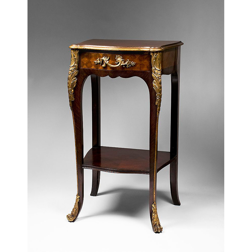 French louis xv style marquetry petite pier table pia 39 s antique gallery ruby lane - Table louis xv ...