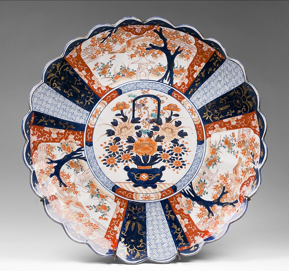 Large Japanese Imari Edo Period Wall Charger Pia S Antique Gallery Ruby Lane