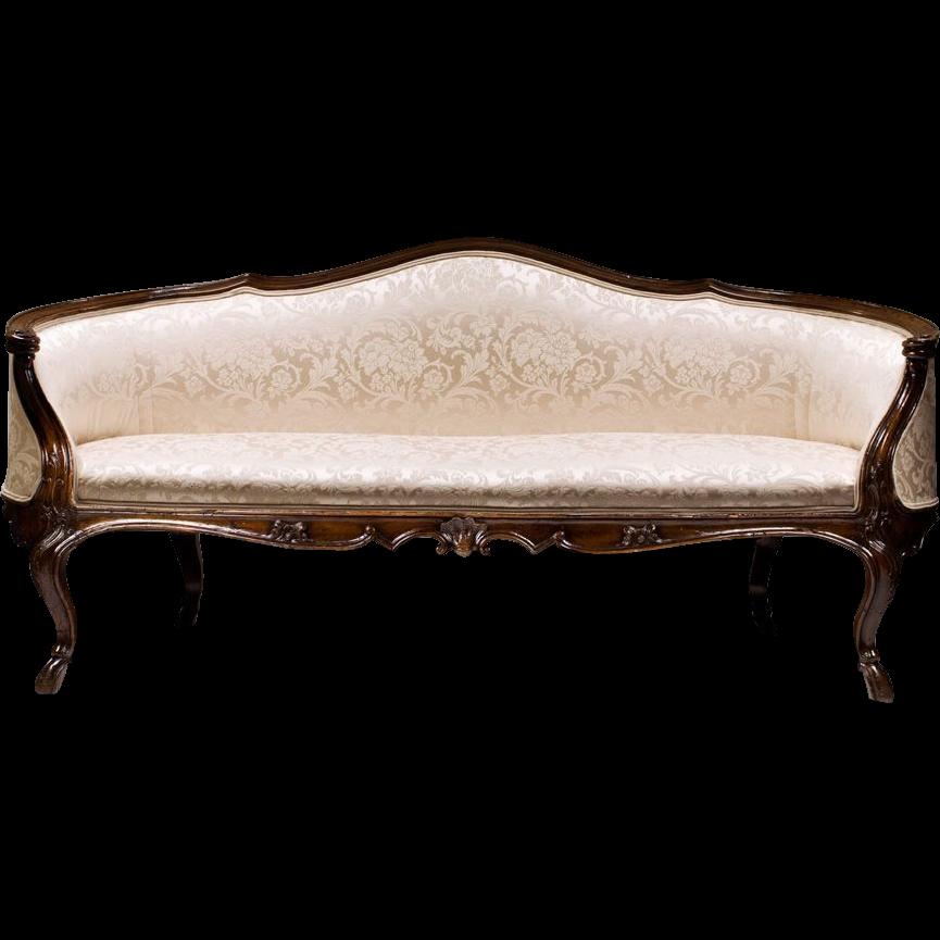 18th C. Walnut Spanish-Portuguese Settee or Sofa