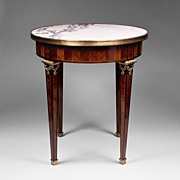 French Empire Gueridon or Side Table With Marble Top