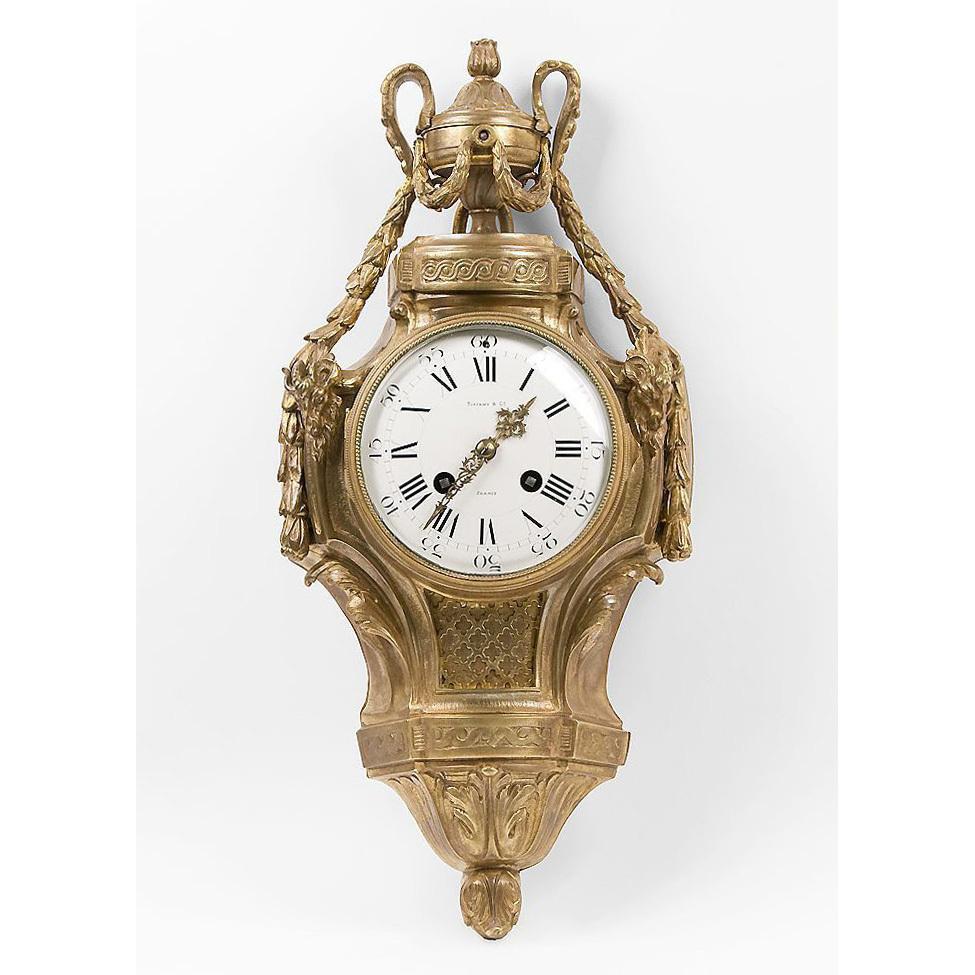 Tiffany & Co., French Louis XVI Bronze Cartel Clock