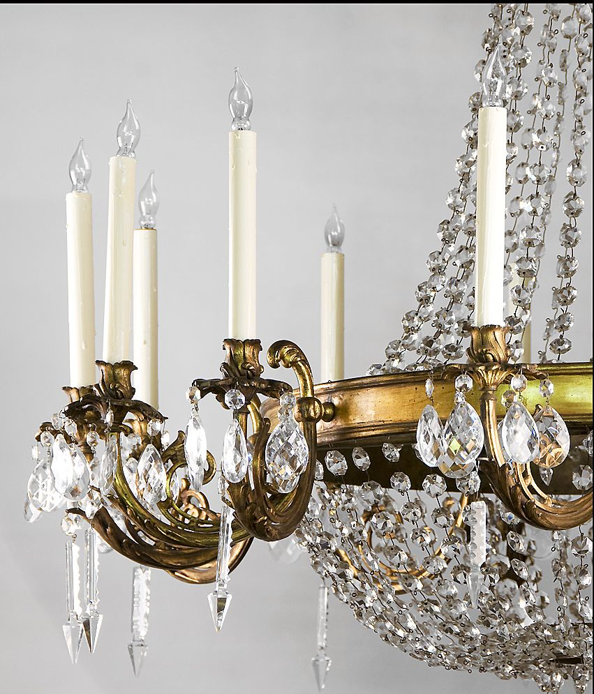 French regency style 14 light ormolu and crystal chandelier sold roll over large image to magnify click large image to zoom mozeypictures Gallery