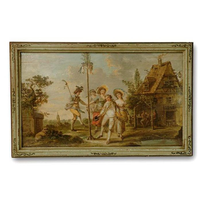 18th C. O/B Painting by Johann Peter Neeff (1753-1796)