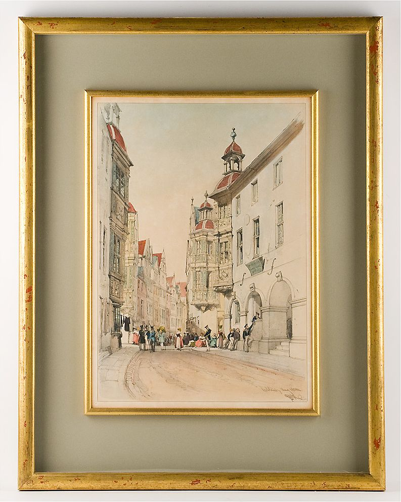 19th Century Hand Colored German Etching Jd Harding From