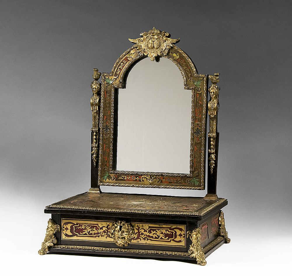 early 19th century boulle shaving stand and mirror sold on ruby lane