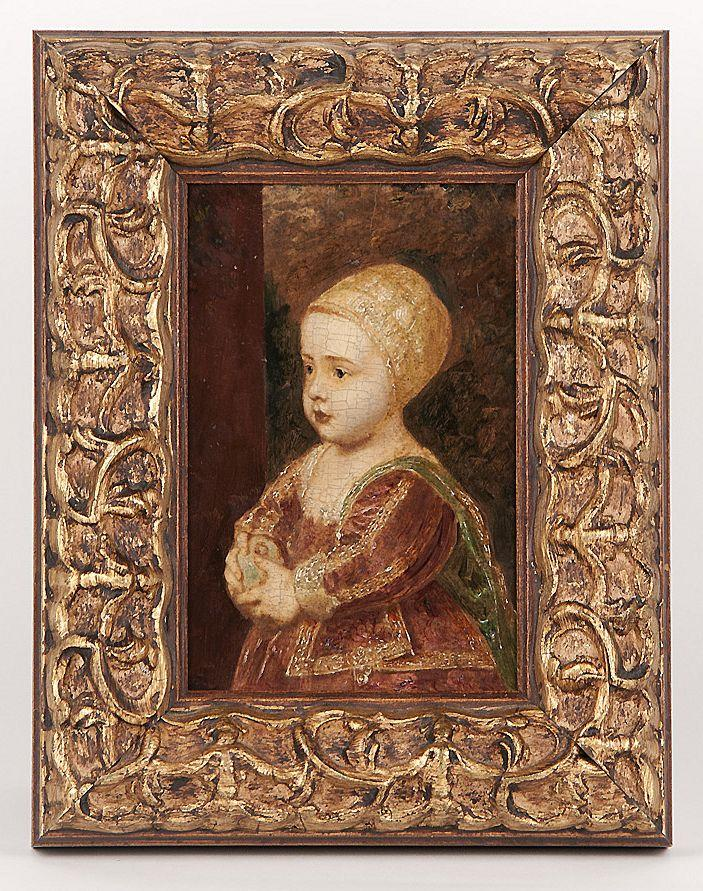 Oil On Board of Baby Stuart After Anthony Van Dyck