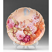 L. R. L. Limoges Hand Painted Wall Charger