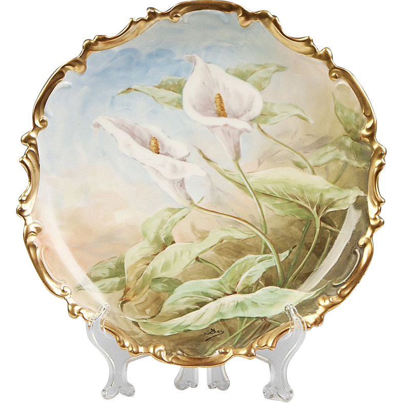Flambeau Limoges Charger With Calla Lillies