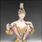 Riessner, Stellmacher & Kessel Amphora Pottery Bust