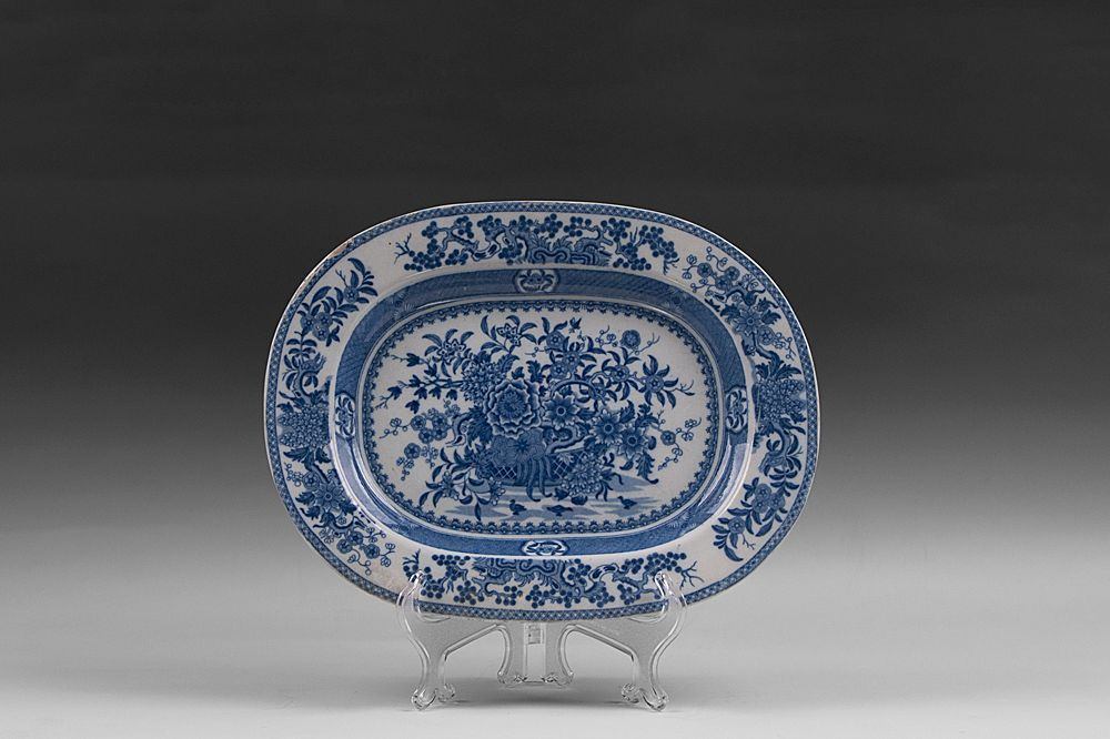 Blue and White Transferware English Blue Willow Platter