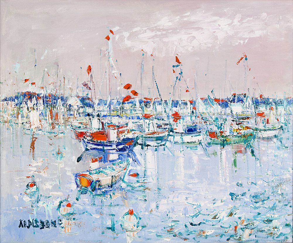 Yolande Ardissone Oil On Canvas, Bateau a la Trinite