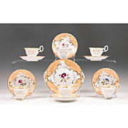 19th Century Copeland & Garret English China Hand Painted Dessert Set