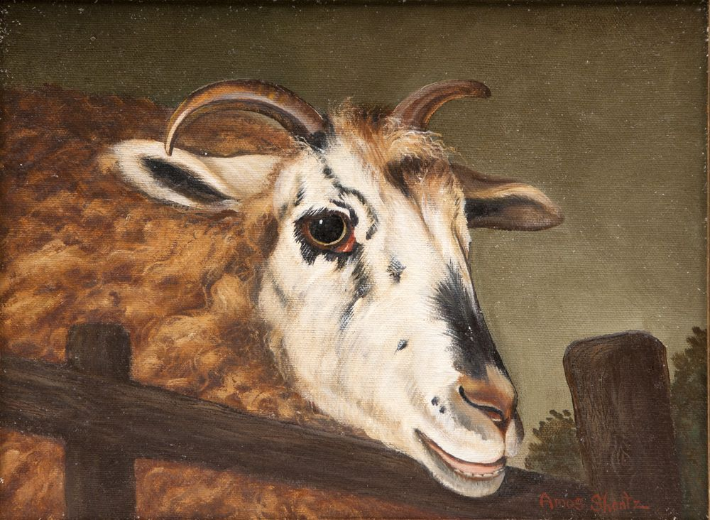Oil On Canvas of Ram by Amos Shontz