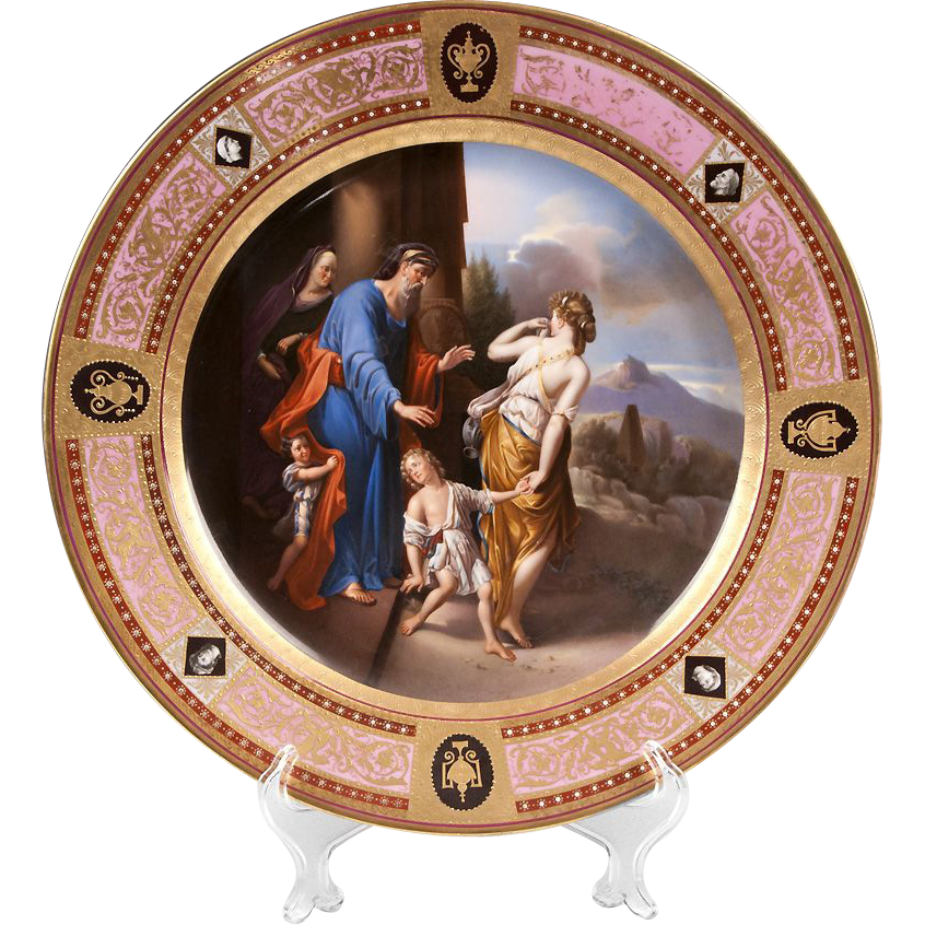 Hand Painted Royal Vienna Charger Titled Verstosung Der