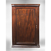 Mahogony English Hanging Corner Cabinet