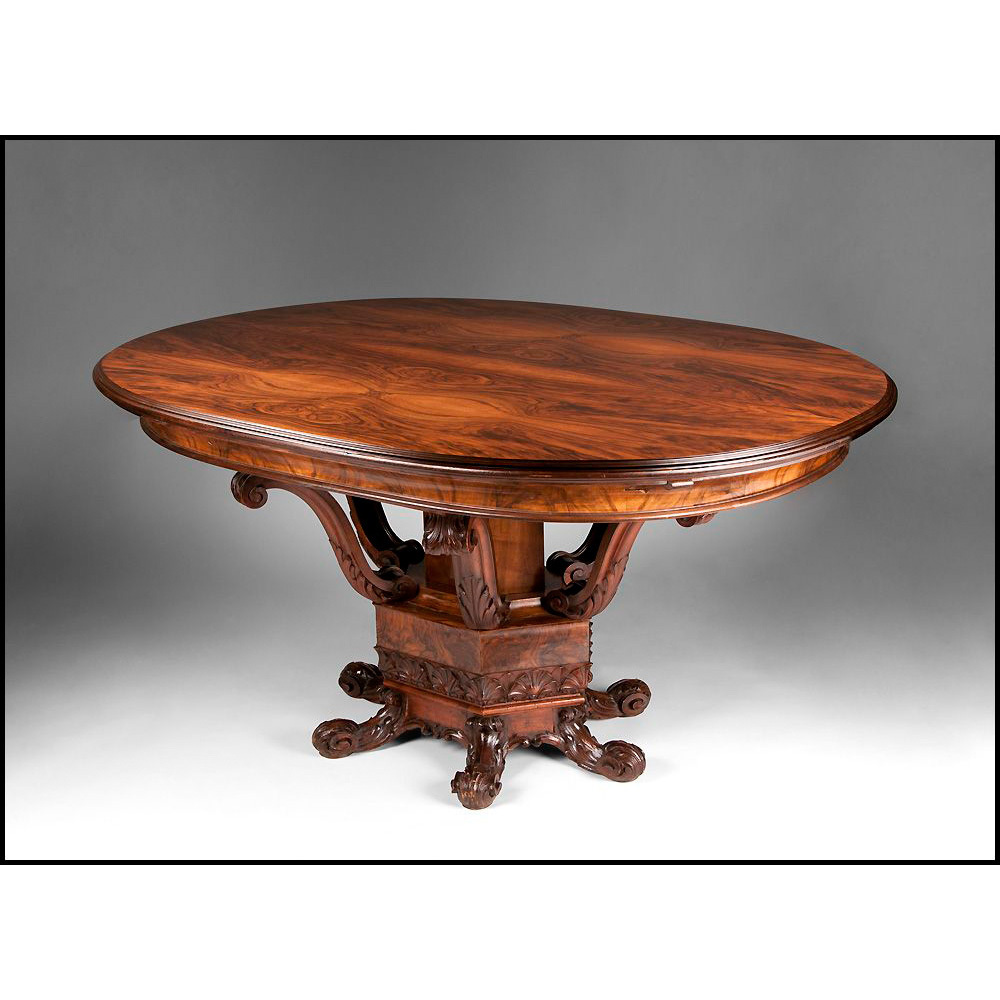 Early 20th C. Italian Rosewood Baroque Style Oval Breakfast Table