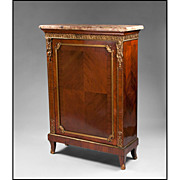 19th C. French Louis XV Gilt Bronze Mounted Side Cabinet
