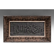 "18th C. Black Basalt Wedgwood ""Bacchanalian Sacrifice"" Plaque"
