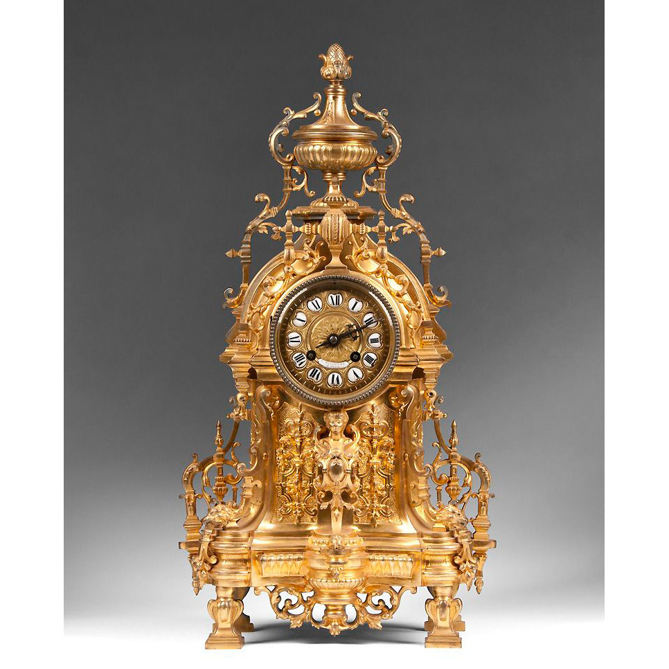 19th C. Constantin Louis Detouche Bronze Ormolu French Mantle Clock