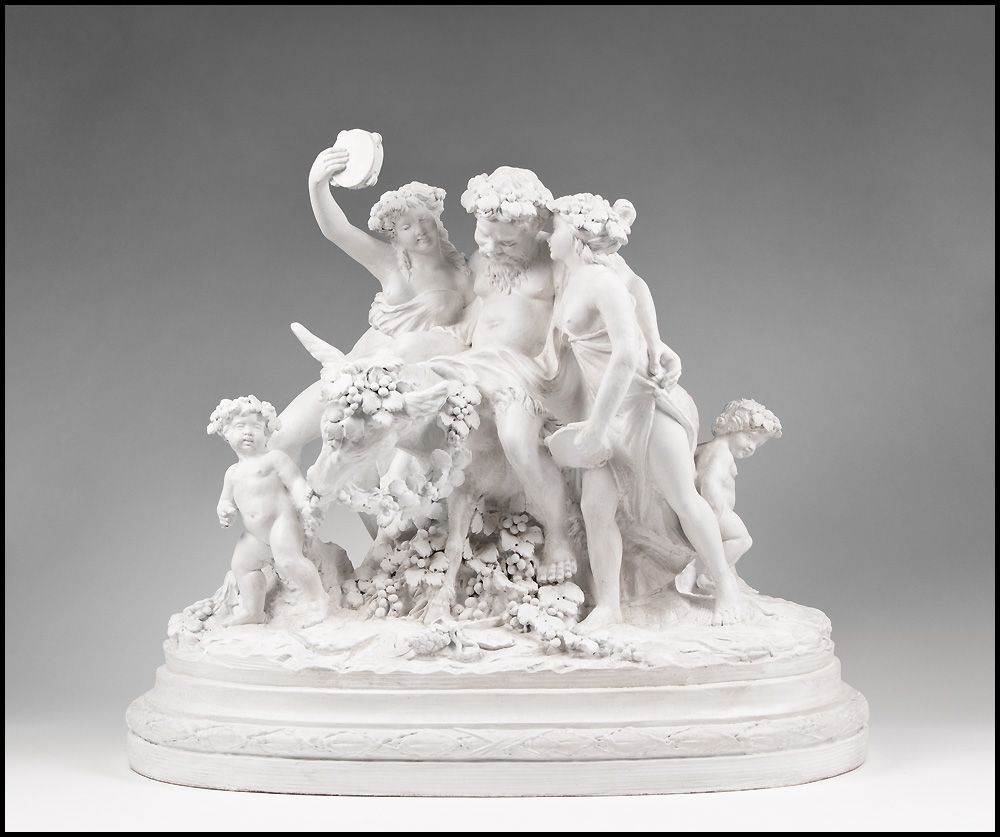 19th C. Glazed Italian Terracotta Allegorical Sculptural Grouping