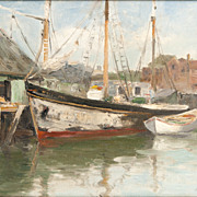 Oil Painting On Board by Charles P. Gruppe