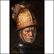 """KPM Plaque After Rembrandt """"Mann mit dem Goldhelm"""""""