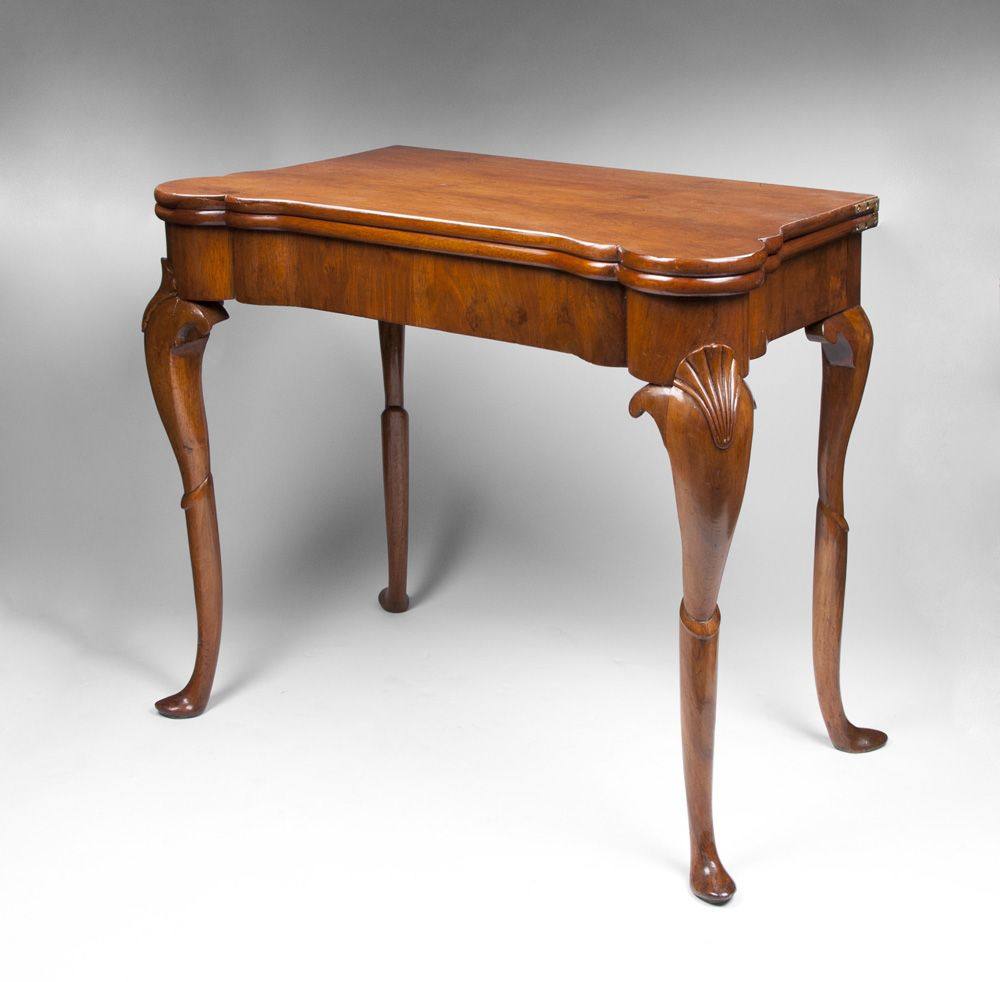 Early 19th C. Irish Georgian Gaming Card Table
