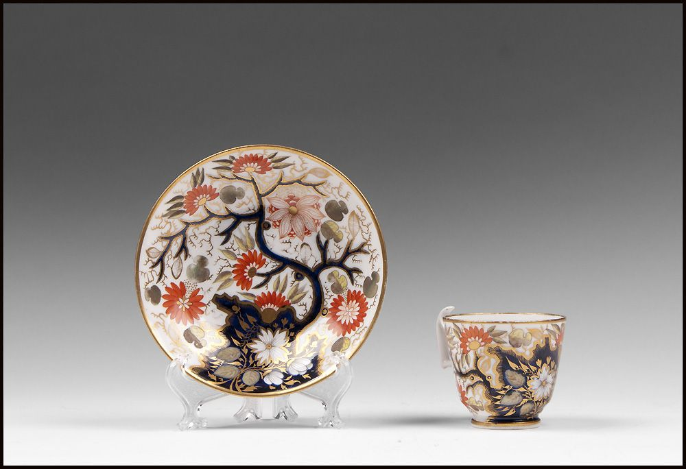 1810 British Coffee Cup And Stand, Imari Pattern