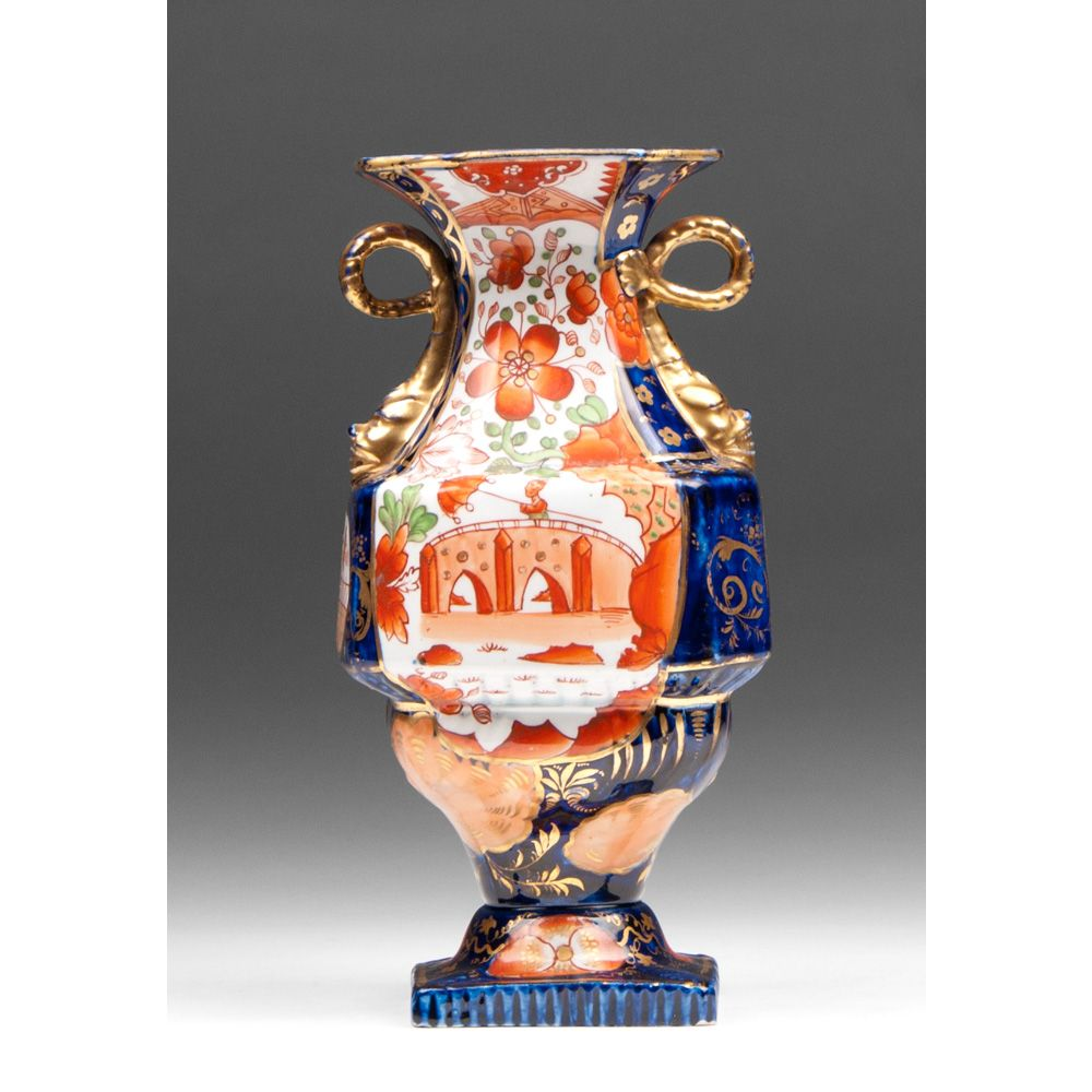 1813-20 Masons Ironstone Dolphin Handle Vase