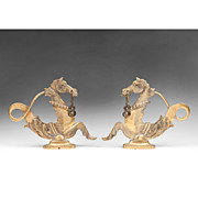 Pair of Brass Venetian Gondola Cavallis or Sea Horses