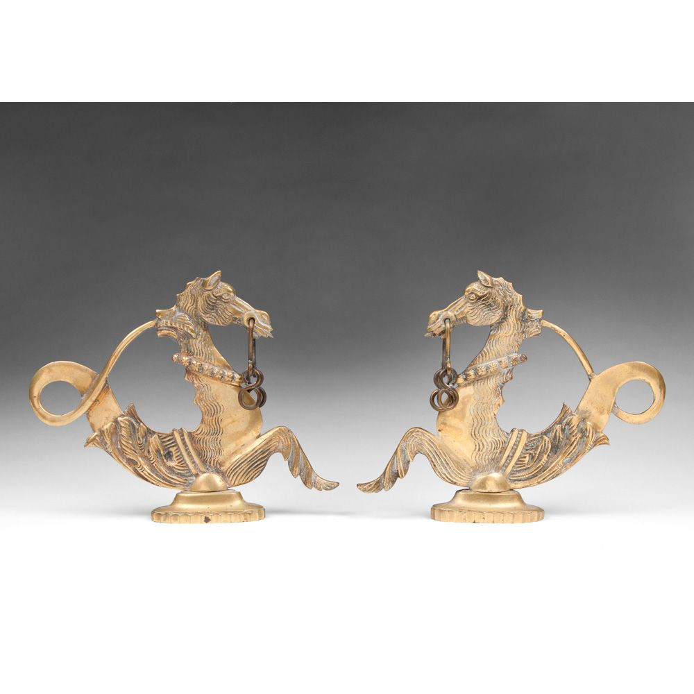 Pair of Brass Venetian Gondola Cavallis or Sea Horses
