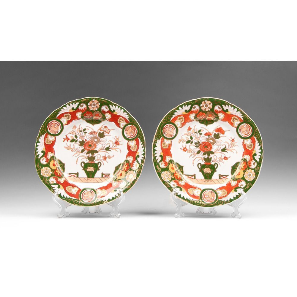 Pair of Ashworth Ironstone Masons Style Imari Pattern Plates