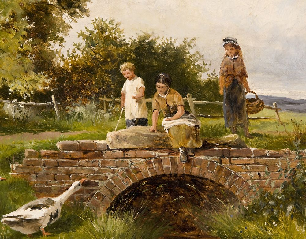 19th C Pastoral Oil On Canvas By Henry John Yeend King