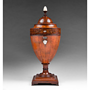 George III Late 18th C. Satinwood Cutlery Urn