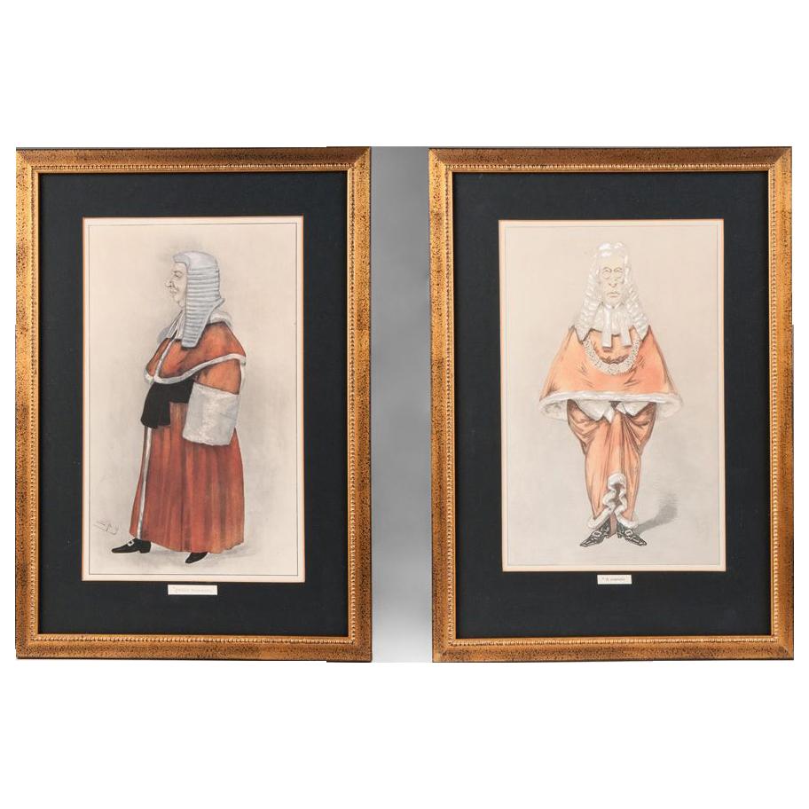 Pair of Vanity Fair Spy Prints, Legal Series