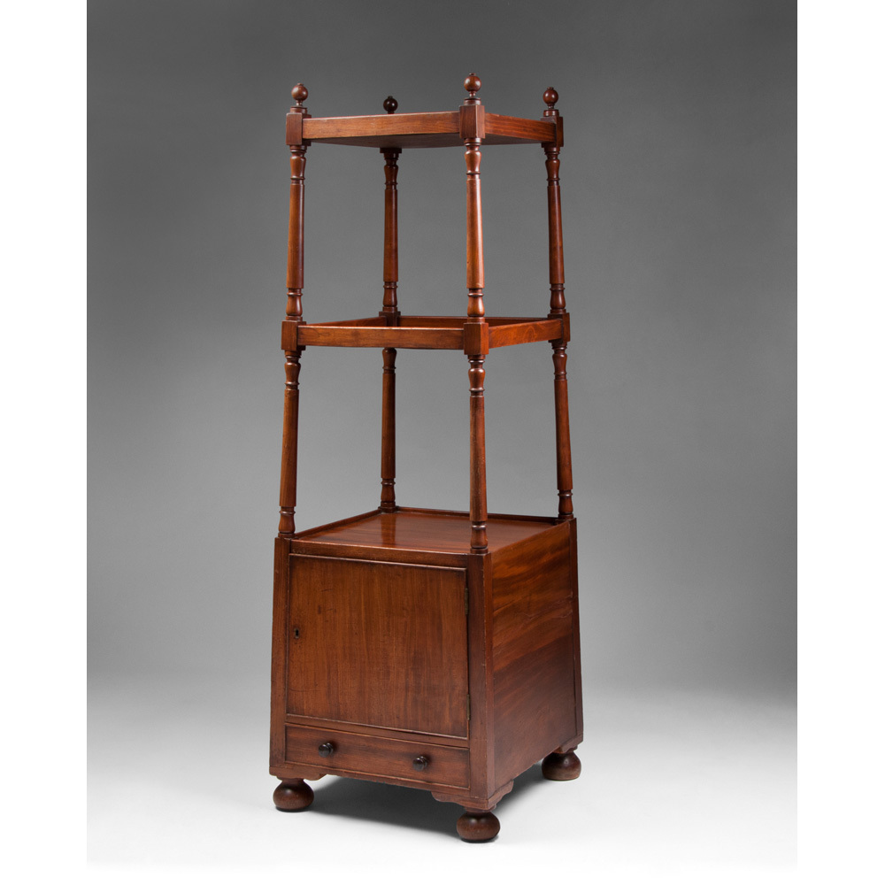 vintage regency style mahogany etagere from piatik on ruby lane. Black Bedroom Furniture Sets. Home Design Ideas