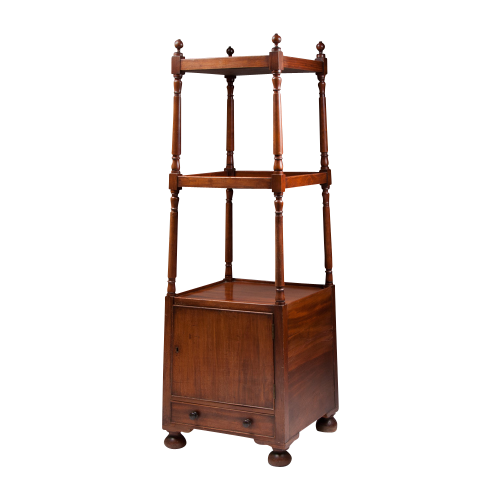 vintage regency style mahogany etagere from piatik on ruby lane. Black Bedroom Furniture Sets. Home Design Ideas
