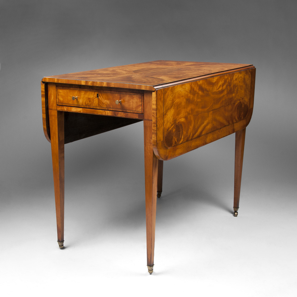 George III English Pembroke Satinwood Table, Circa 1800 – 1830