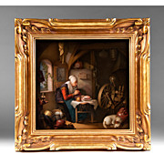 KPM Berlin Decorated Porcelain Plaque After Gerrit Dou