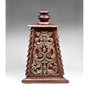 Large Wood Carved Baroque Style Altar Candlestick