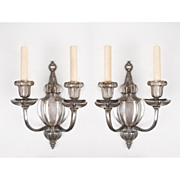 Pair Of E. F. Caldwell Signed Two Arm Sconces