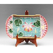 Late 19th C. English Majolica Serving Platter Or Dish