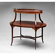 19th C. English Regency Tiered Tea Table