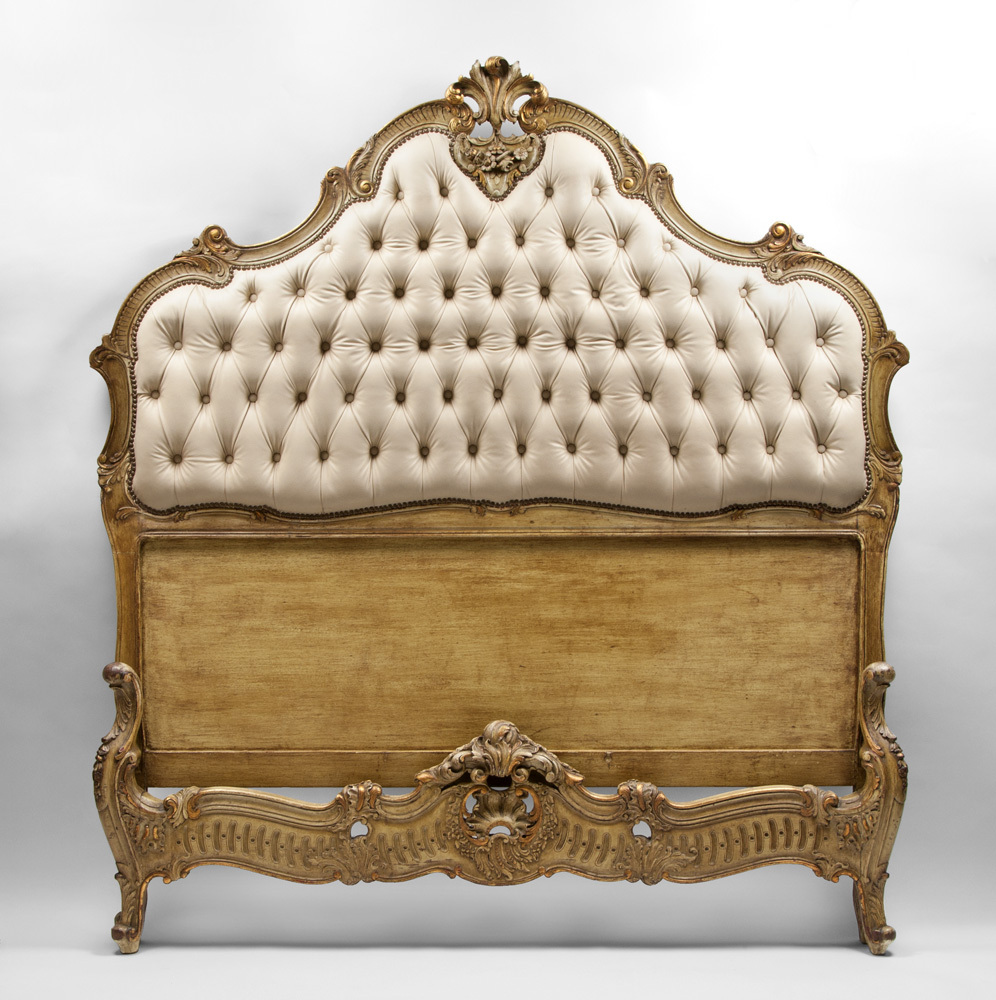 Italian hand carved vintage queen size bed sold on ruby lane