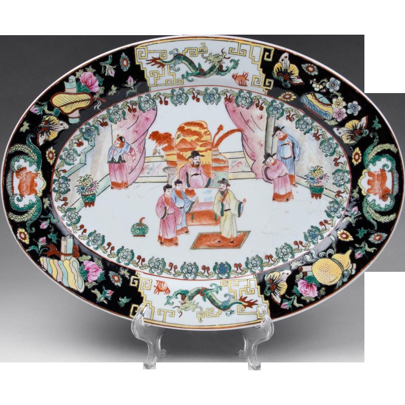 Famille Noire Oval Platter