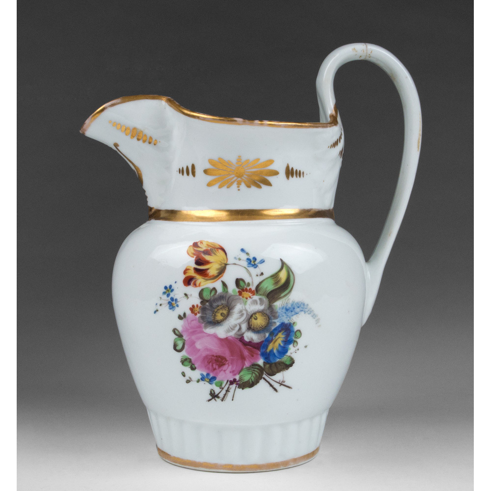 1830 William Ellis Tucker American Porcelain Pitcher