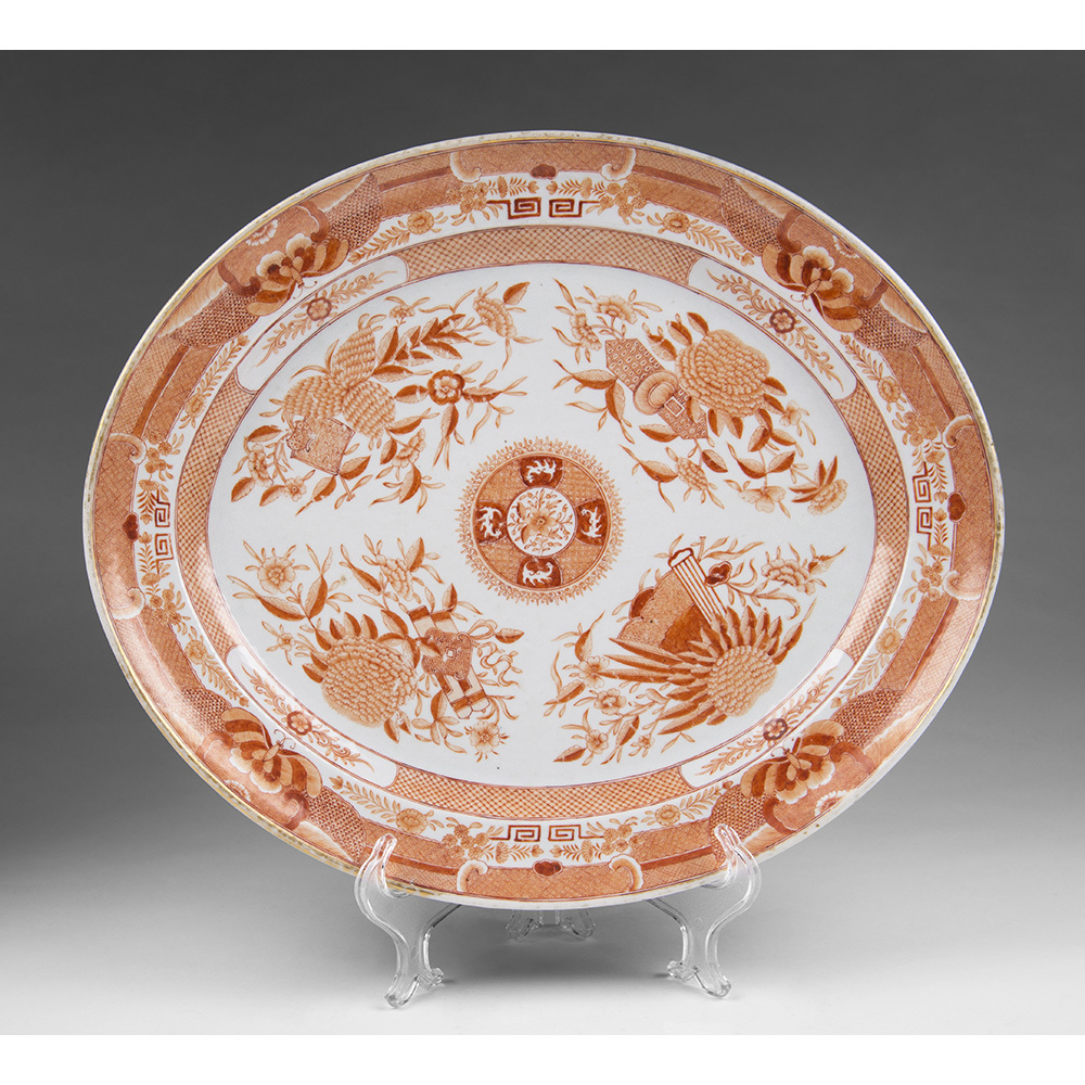 1820 Orange Fitzhugh Platter